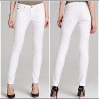 AG Adriano Goldschmeid Size 28 The Stilt Cigarette Leg Skinny Jeans White