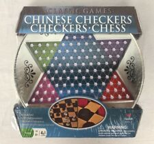 New CARDINAL Metal Board Chinese Checkers Chess And Checkers Complete Sets