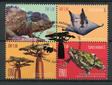 United Nations UN Geneva 2017 CTO Endangered Species 4v Block Frogs Trees Stamps