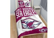 NRL MANLY WARRINGAH SEA EAGLES FOOTBALL Single Bed Doona Duvet Quilt Cover Set