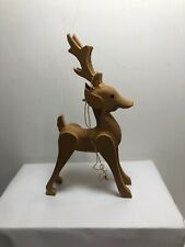 6� Wood Reindeer Figurine Christmas Tree Ornamnet