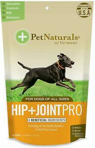 Hip + Joint PRO for Dogs by Pet Naturals of Vermont, 60 chews