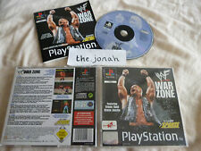 WWF War Zone PS1 (COMPLETE) WWE wrestling rare black label Sony Playstation