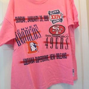 Super Bowl XXII Denver Broncos San Francisco 49ers 1988 L T-Shirt