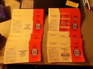 LOT OF 284 DETROIT TIGERS POCKET SCHEDULES NEVER FOLDED FROM 1979 4 DIFF. ADDS