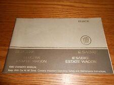 1980 BUICK LESABRE, ELECTRA and ESTATE WAGON ORIGINAL 80 OWNER MANUAL