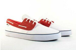 Lacoste Barbuda PS LEM Canvas # 7-27LEM3301286  Red Men SZ 8 - 13 Casual Shoes
