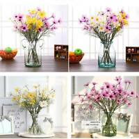 5 Heads/Branch Artificial Dasiy Flower Silk Fake Flower Daisy Wedding Home US