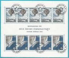 Mónaco de 1983 con sello bloque 23-Europa: espíritu humano!
