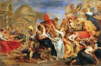"""oil painting handpainted on canvas """"The Rape of the Sabine Women''@NO9486"""
