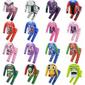 Descendants Sleeping Pajamas Sets Boys Girls Toy Storys Nightwear XMAS Pjs Sets