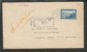 Canada 1939 13c HALIFAX HARBOUR Registered First Day Cover