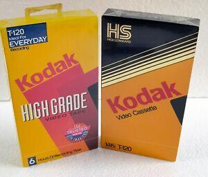 2 Kodak Video Cassette VHS T-120 High Grade and High Standard