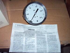 "U.S. GAUGE P844U  Pressure Gauge, 0 to 200 psi , 3-1/2"" G Purpose  PANEL MOUNT"