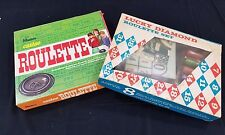 2 Vintage Roulette Sets - Hasbro #6145 (1969) and Lucky Diamond #139 (1960's?)