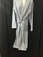 NEW LOT OF 5 ENCOMPASS Lightweight Dressing Robe Blue/White Striped Large w/Tie