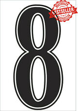 """Pack of 2 x 3"""" Iron On / Heatpress Football Shorts / Shirts NUMBERS in BLACK"""