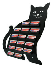 Business Card Holder Black Cat 16 Pocket Wall Organizer Horizontal Qty 4
