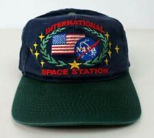 Vtg Nasa Trucker Snapback Cap Hat International Space Station Embroidered