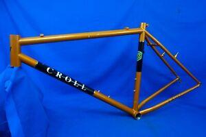 "Croll 26"" Reynolds 853 Steel Mountain Bike Frame, 19""/Lrg, Handmade USA, V-Brake"