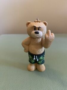 Bad Taste Bears - Shorty Cannabis Leaf Shorts Keyring. Keychain.