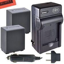 BM NP-FV100 2X Battery & Charger For Sony HDR-PJ200,PJ230,PJ260V,PJ340,PJ380