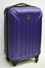 $440 TAG Laser 20'' Hard Shell Carry On Spinner Luggage Travel Suitcase Purple