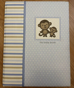 Child Of Mine Carters Baby Boy Memory Book Journal Scrapbook Monkey 20+ Pages