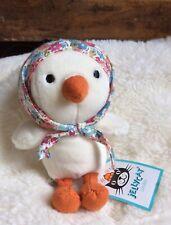 Jellycat Cream Betty Bonnet Chick NWT