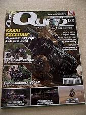 QUAD PASSION Magazine  n° 133 Essai KAWASAKI KVF750 4X4i EPS 2012. Prépa GRIZZLY