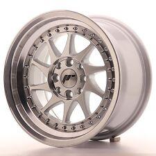 Japan Racing Wheels Cerchi in Lega JR26 15x8 ET25 4x100/108 Machined Silver
