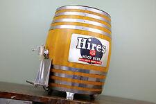 Hires Root Beer Vintage Wood KEG Oak Barrel Soda Fountain Dispenser Tap Sign