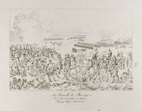 Grabado 1876: Batalla Marengo, Napoleón Bonaparte. Piemont, Italia