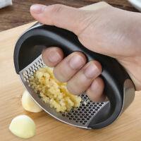 Stainless Steel Garlic Press Crusher Squeezer Mincer Chopper Kitchen Gadget