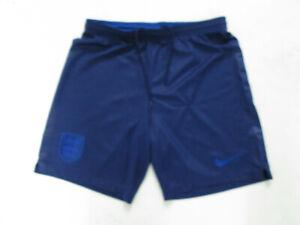 VINTAGE NIKE ENGLAND NATIONAL MEN'S FOOTBALL TEAM SMALL SEWN BLUE SHORTS  PREOWN