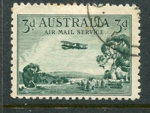 AUSTRALIA....  1929  3d airmail  used