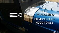 Jeep Wrangler YJ -CJ7-CJ8 Highly Polished Diamond Plate 2 PC. HOOD COWL ENDS