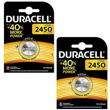 GENUINE 2X DURACELL CR2450 3V LITHIUM COIN CELL BATTERY 2450 DL2450 K2450L