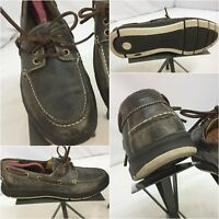 Cole Haan Boat Shoes Sz 8 M Gray Leather Moccasins Worn Twice YGI I7