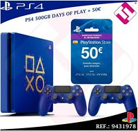 PS4 500GB 2 MANDOS MONEDERO PLAYSTATION STORE 50€ DAYS OF PLAY COLECCIONISTA