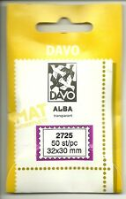 DAVO Alba Clear Mounts Lot of 3 Packs - 50 pieces each- 27x25mm-new and fresh #