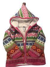 Baby Gap Toddler Girls Fair Isle Nordic Zip Pink Knit Hoodie Sweater 12-18 Month
