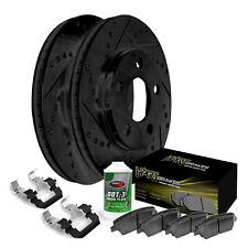 For 2014 Kia Sorento Front Black Hart Brake Rotors+Ceramic Pads