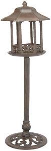 Cast Iron Free Standing Bird Feeder Vintage Looking Lamp Post Design - Yard Art