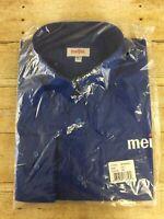 Meijer Grocery Store Employee Uniform Shirt Men 2XT Blue Button Long Sleeve Work