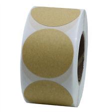 """1.5"""" Round Kraft Paper Sticker Packaging Seals Labels 10 Rolls(5,000 Labels)"""