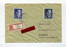 1942 Generalgouvernement Eilboten R-Brief Hitler Dauerserie Nr. 83A, 88 A