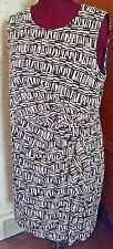 NWT! MINT! CALVIN KLIEN Rayon Jersey Side-Draped Sheath Dress-Plus 2X-Abstract