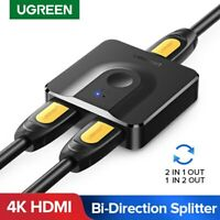 Ugreen 2 IN 1 OUT HDMI Switch Splitter Bi-Direction 4K Switcher for PS4 Xbox TV