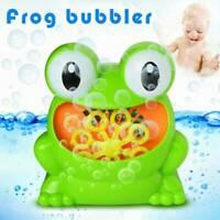 """Seifenblasenmaschine """"Frosch"""" 13cm Luftblasen Bubble Maker Kinder Neue"""